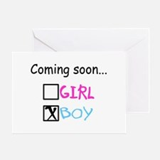Boy, Coming Soon Greeting Card