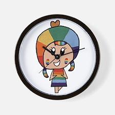 Rainbow Tart Wall Clock
