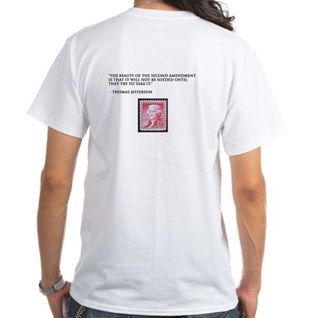 Thomas Jefferson White T-Shirt