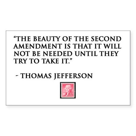 Thomas Jefferson Rectangle Sticker