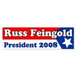 Russ Feingold for President Sticker
