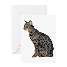 Savannah Cat Greeting Card