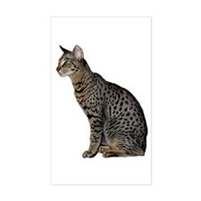 Savannah Cat Rectangle Decal