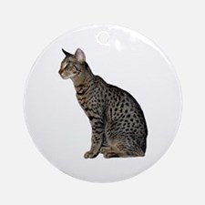 Savannah Cat Ornament (Round)