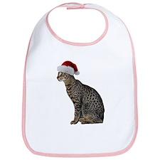 Savannah Cat Christmas Bib