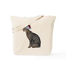 Savannah Cat Christmas Tote Bag