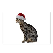Savannah Cat Christmas Postcards (Package of 8)