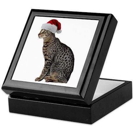 Savannah Cat Christmas Keepsake Box
