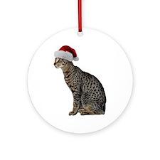 Savannah Cat Christmas Ornament (Round)