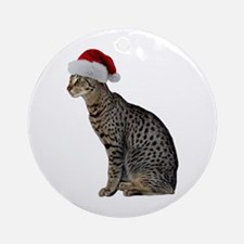 Savannah Cat Christmas Ornament (Round)