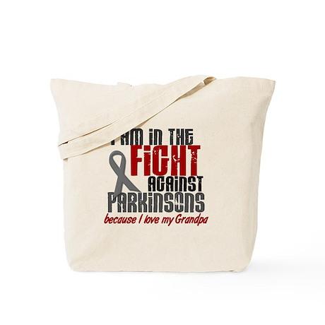 In The Fight 1 PD (Grandpa) Tote Bag