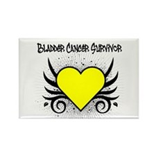 BladderCancerSurvivor Tattoo Rectangle Magnet