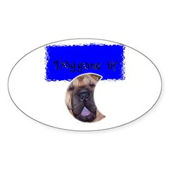 DOG GONE IT! Oval Decal
