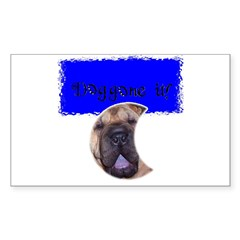 DOG GONE IT! Rectangle Decal