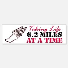 Taking Life 6.2 miles Sticker (Bumper)