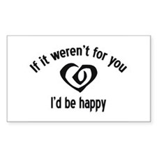 Miserable Heart Rectangle Decal
