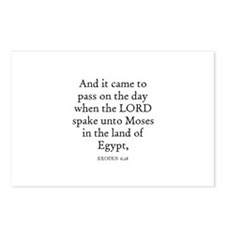 EXODUS  6:28 Postcards (Package of 8)