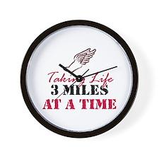 Taking Life 3 miles Wall Clock