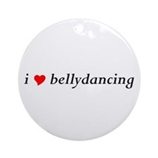 I (heart) bellydancing Ornament (Round, wht)