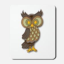 Wide Eyed Owl Mousepad
