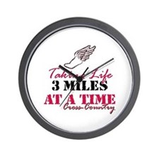 Taking Life 3 miles CC Wall Clock