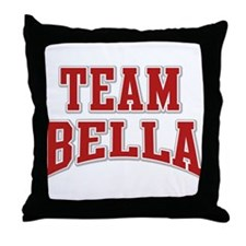 Team Bella Personalized Custom Throw Pillow