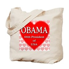 OBAMA Heart Tote Bag