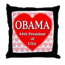 OBAMA Heart Throw Pillow
