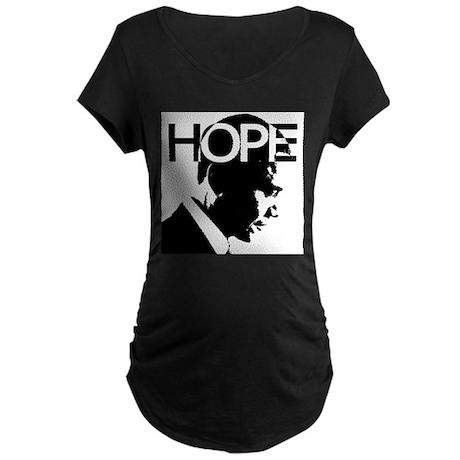 HOPE Obama Maternity Dark T-Shirt