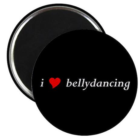 """I (heart) bellydancing 2.25"""" Magnet (10 pack,"""