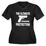GUNS/FIREARMS Women's Plus Size V-Neck Dark T-Shir