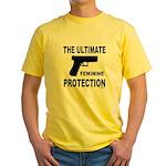 GUNS/FIREARMS Yellow T-Shirt