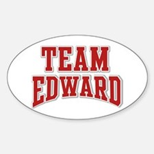 Team Edward Personalized Custom Oval Decal