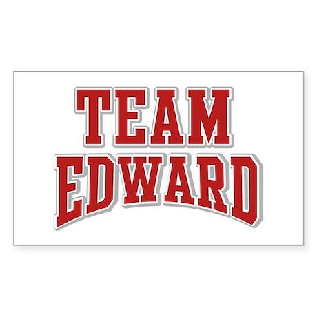 Team Edward Personalized Custom Sticker (Rectangle