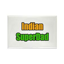 """""""Indian Super Dad"""" Rectangle Magnet"""