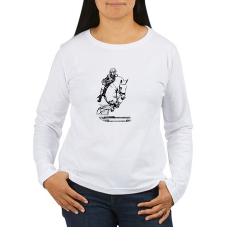 show jumping horse Women's Long Sleeve T-Shirt
