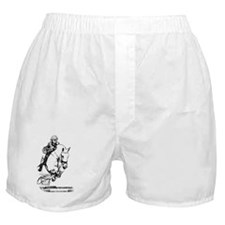 show jumping horse Boxer Shorts