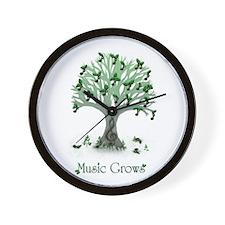 Music Grows Wall Clock