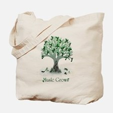 Music Grows Tote Bag