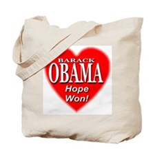 Barack Obama Hope Won Tote Bag