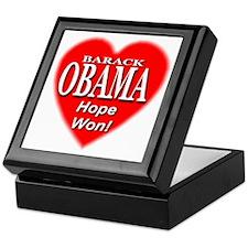 Barack Obama Hope Won Keepsake Box