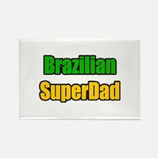 """Brazilian Super Dad"" Rectangle Magnet"