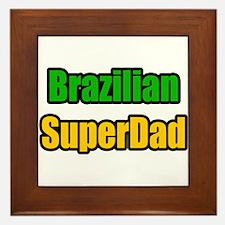 """""""Brazilian Super Dad"""" Framed Tile"""