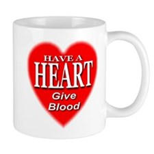 Have A Heart Give Blood Mug
