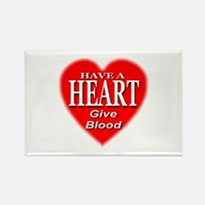 Have A Heart Give Blood Rectangle Magnet