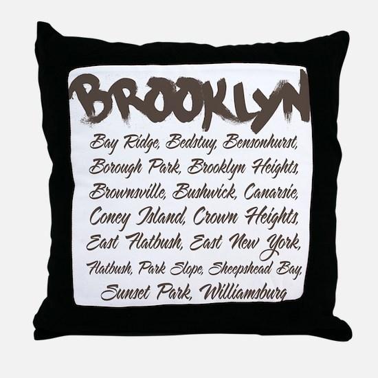 Brooklyn Hoods Throw Pillow