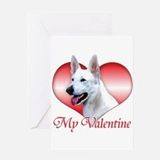 White Shep Valentine Greeting Card