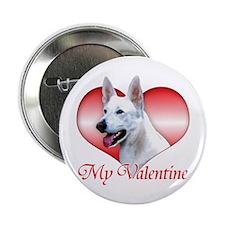 "White Shep Valentine 2.25"" Button"