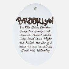 Brooklyn Hoods Oval Ornament