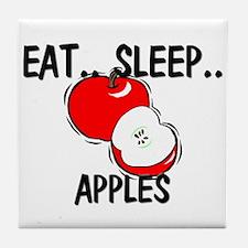 Eat ... Sleep ... APPLES Tile Coaster
